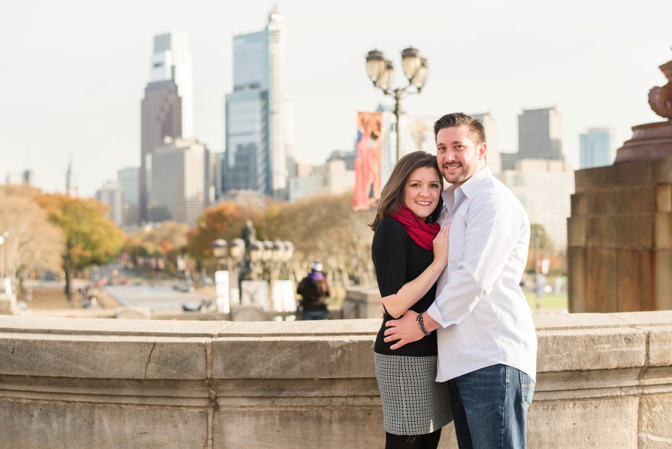 Philadelphia Museum of Art engagement photo