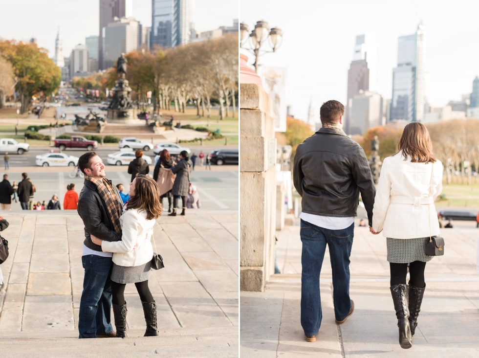 rocky steps engagement photo
