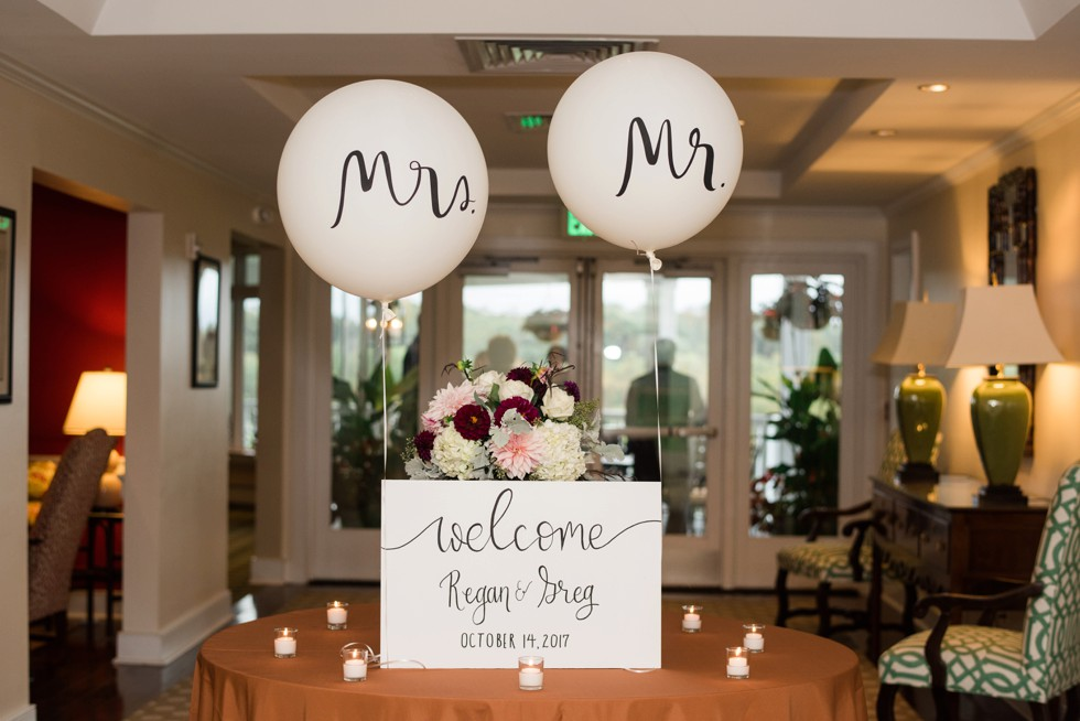 Kate Spade Mr & mrs balloons in plymouth meeting pa