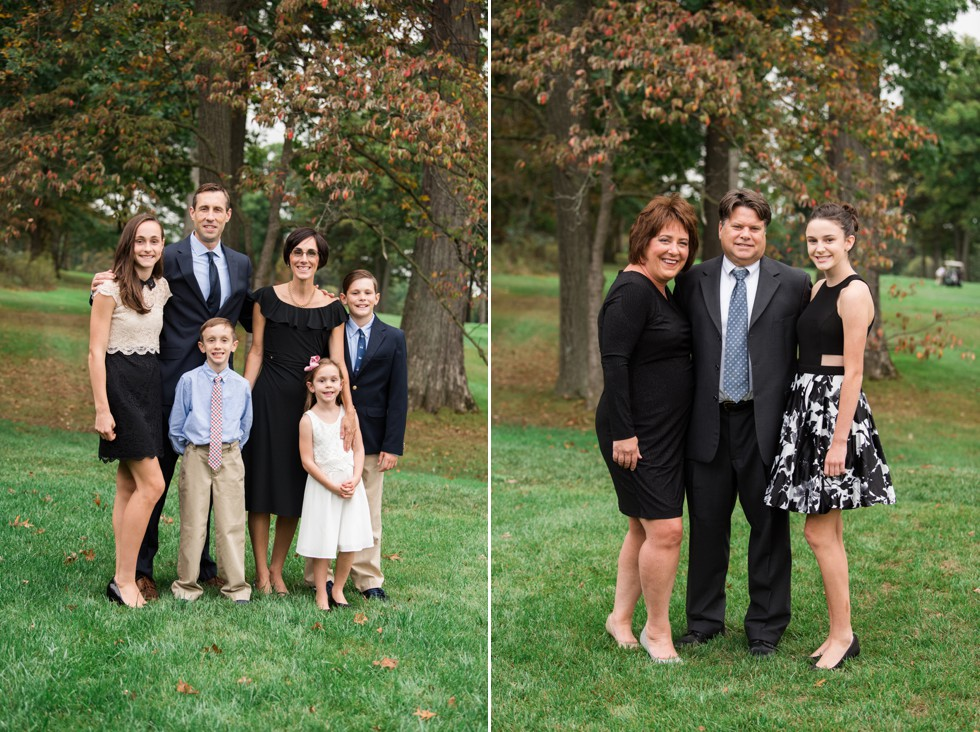 Sunnybrook Golf club wedding family portraits