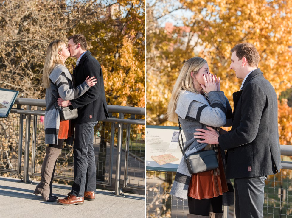 Philadelphia surprise proposal photos