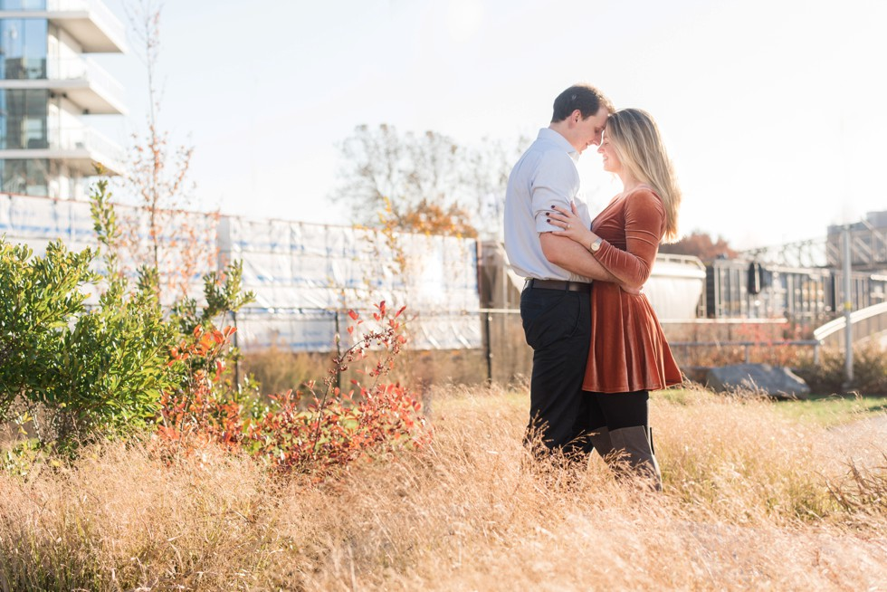 Philadelphia train engagement photos
