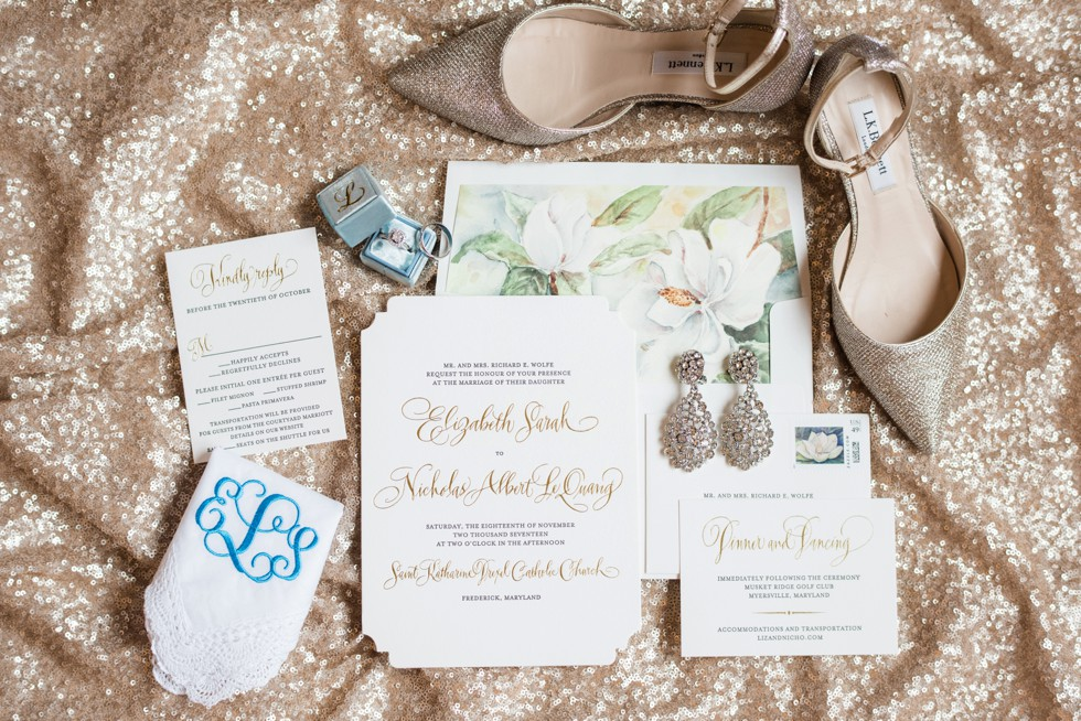 Magnolia Wedding invitation by The Pleasure of your Company