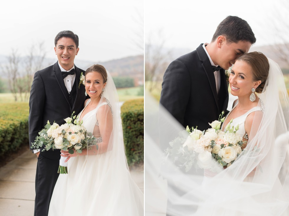 cathedral veil mountain wedding