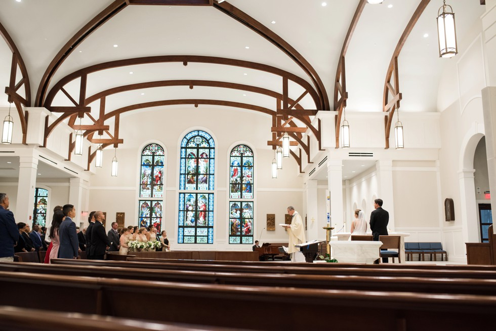 wedding ceremony at Saint Katharine Drexel Catholic Church