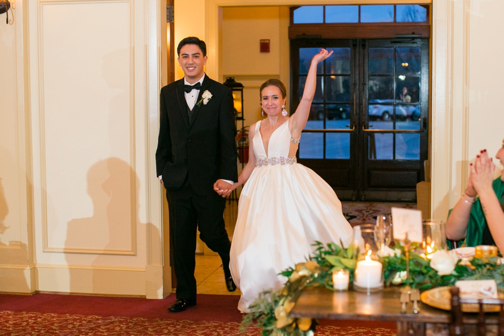 Musket Ridge Golf Club wedding introductions