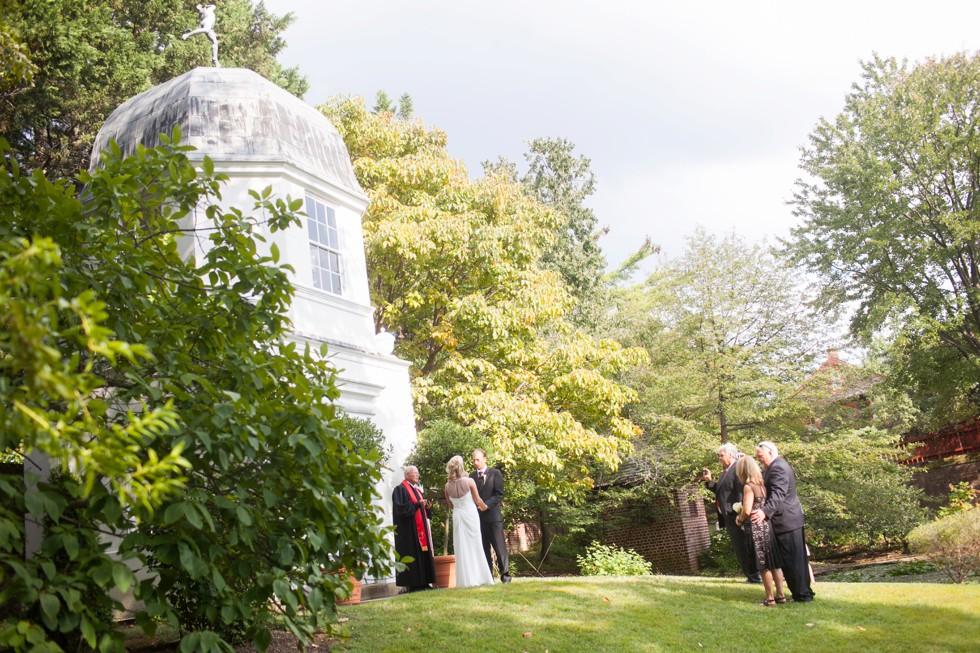 fall intimate garden ceremony