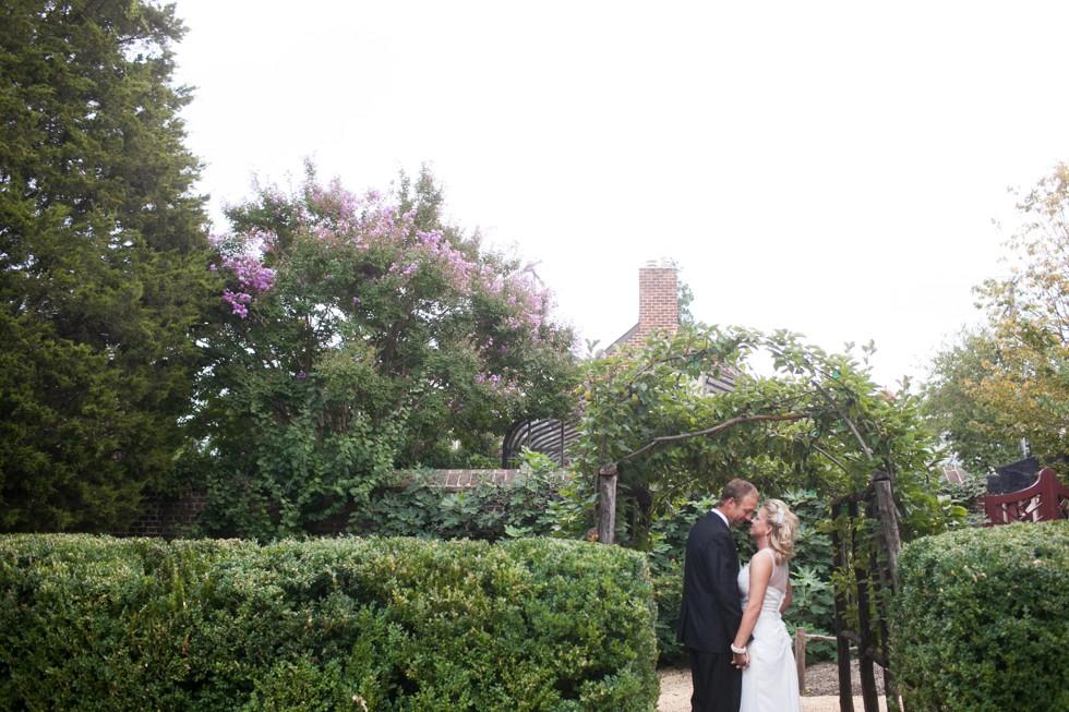 William paca garden couple photos