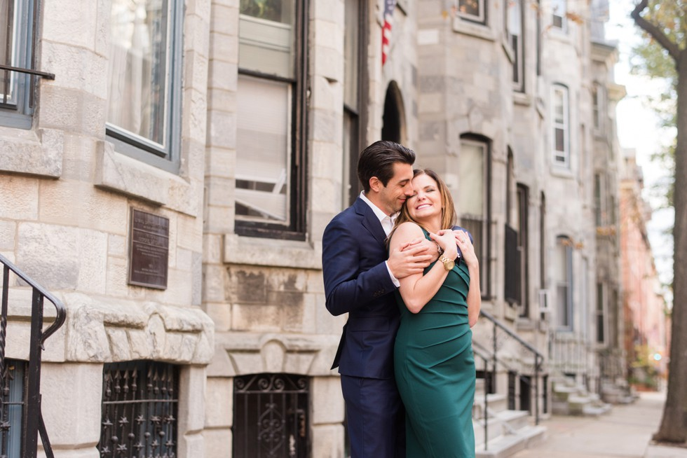 engagement photos in Fitler Square philadelphia