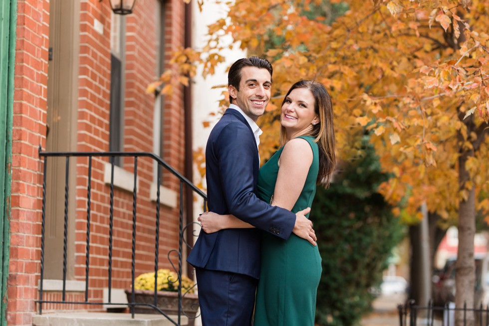 fall engagement photos in Philadelphia