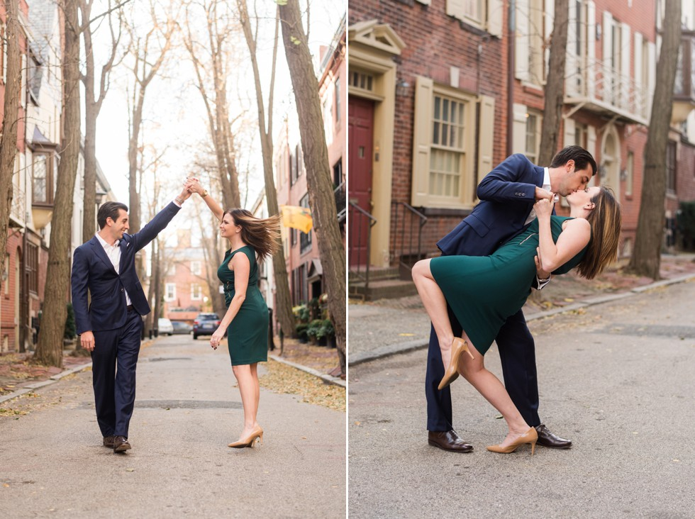 Fitler Square panama street engagement photos