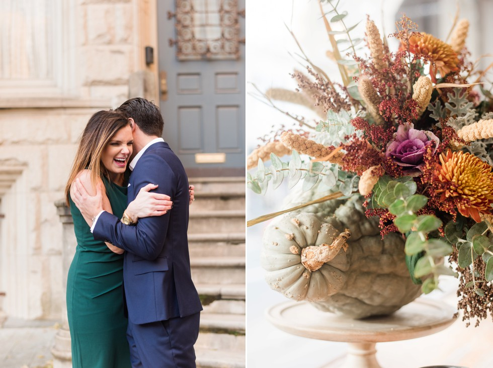fall engagement photos in Rittenhouse Square