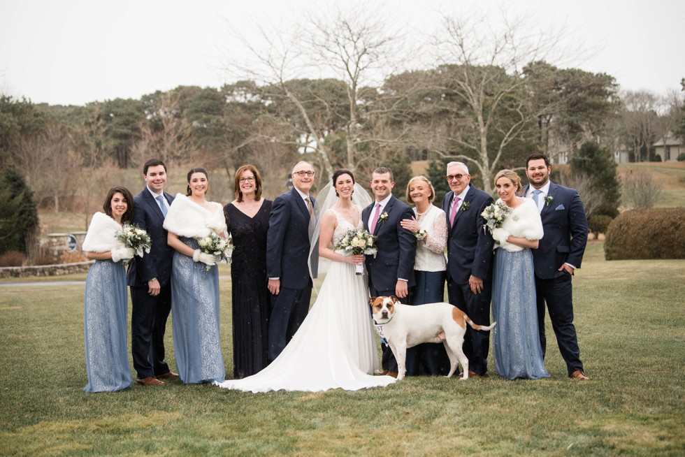 Cape cod family photo and dog