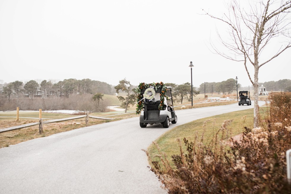 Cape Cod Golf club wedding in winter