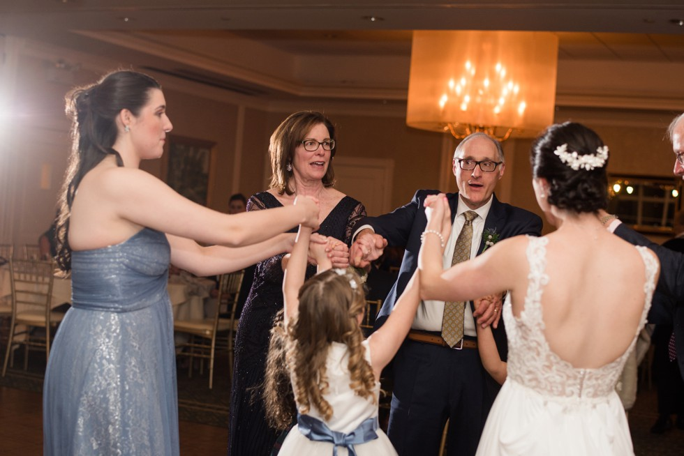 New Seabury Country Club winter wedding reception