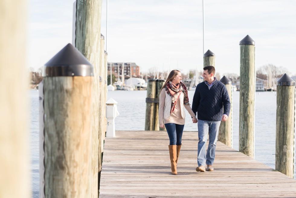city dock engagement session
