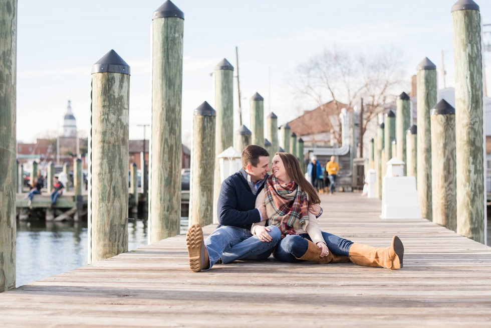 dock street engagement pictures