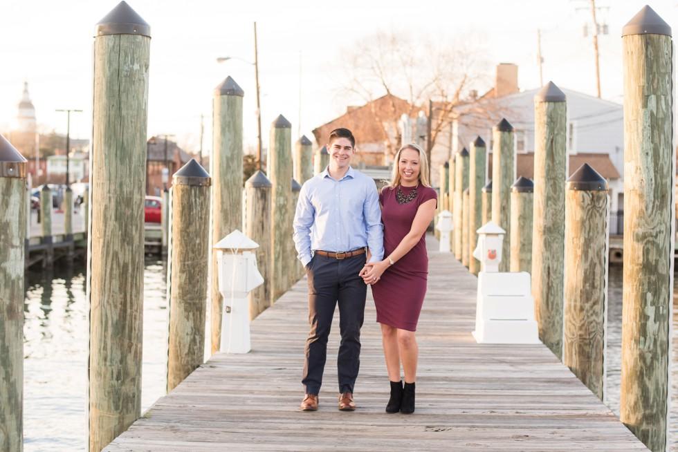Annapolis City Dock engagement photographs