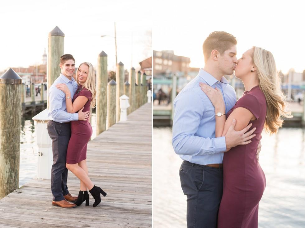 Annapolis City Dock engagement photos