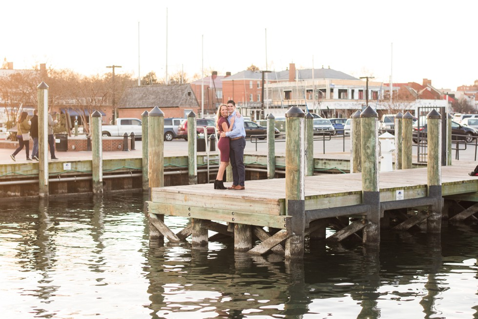 engagement session on waterfront