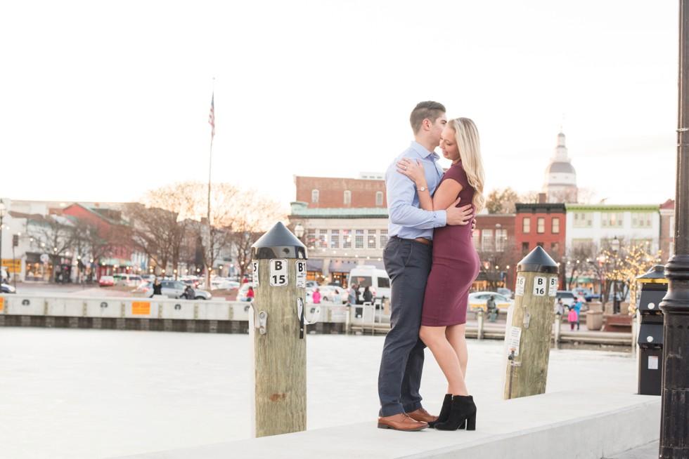 Annapolis harbor engagement photographs