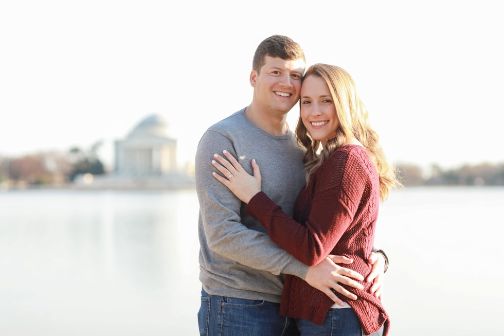 Jefferson Memorial DC engagement photographs