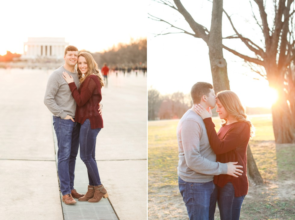 sunset engagement in DC