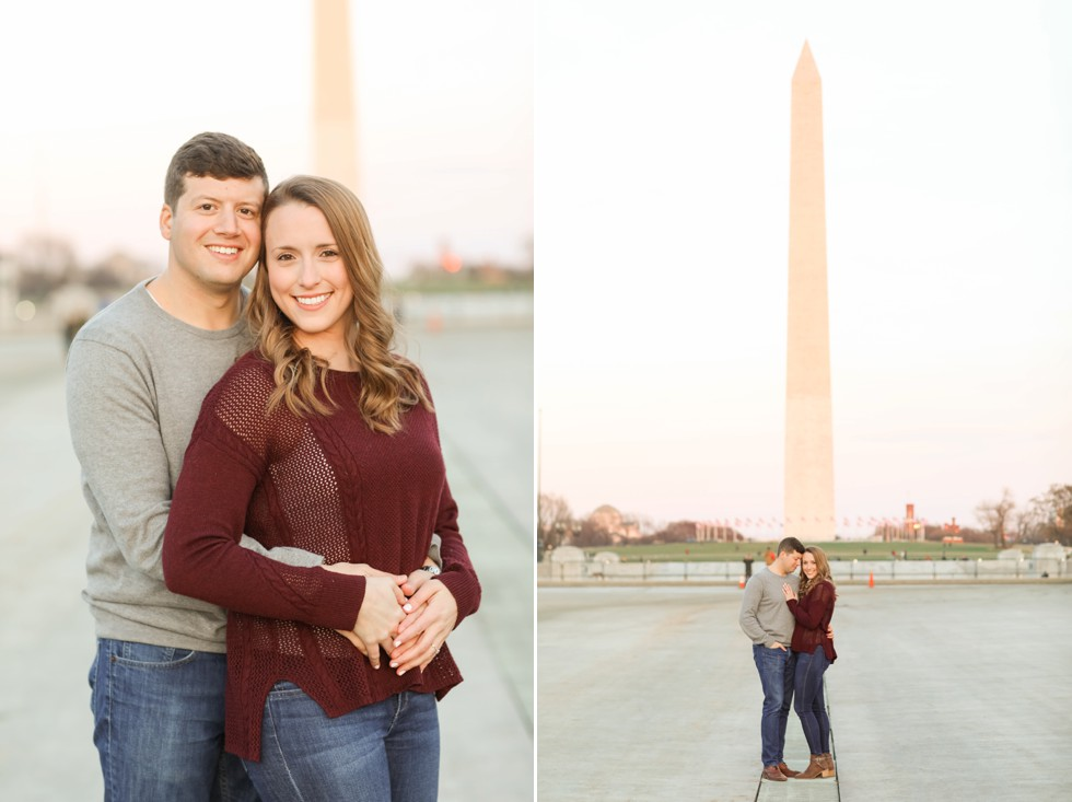 Washington Monument engagement photos