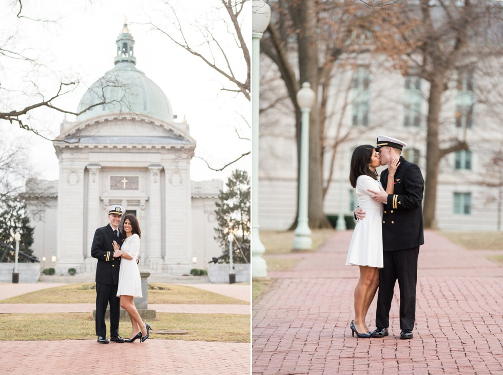 Navy officer engagement photos
