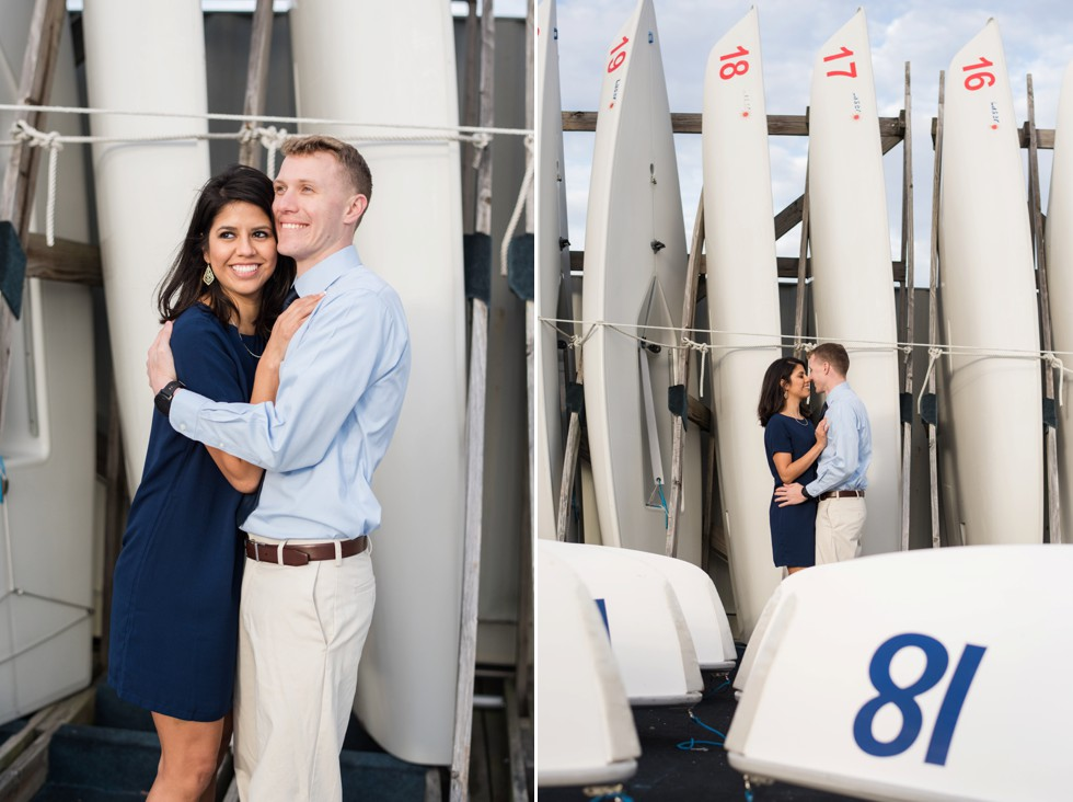 engagement photographs on a boat