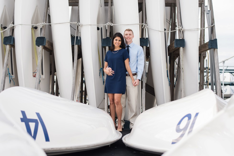 sailboat engagement photographs