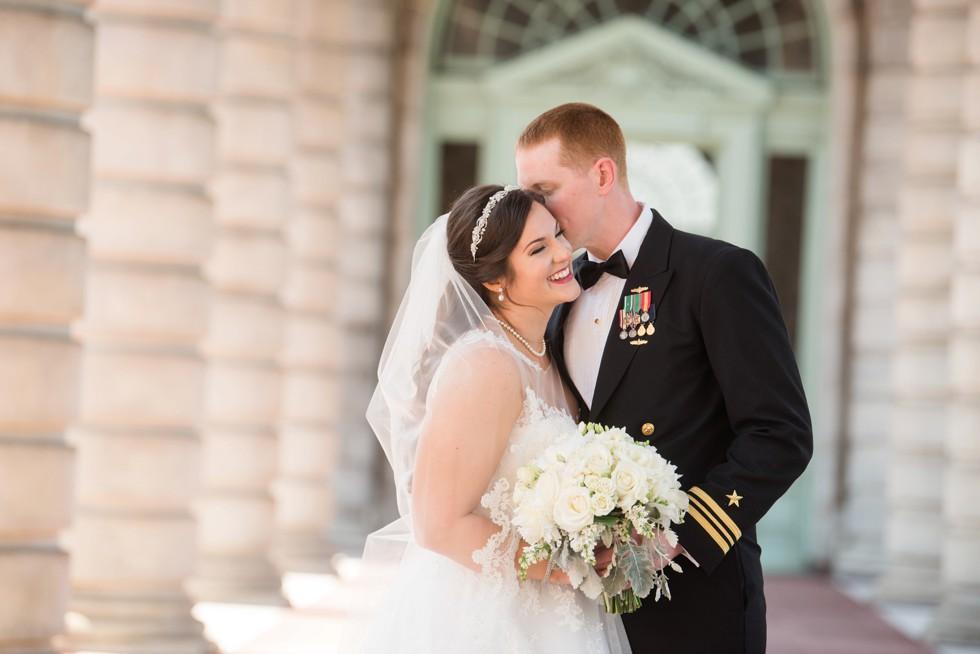 US Naval Academy Bancroft Hall wedding photo