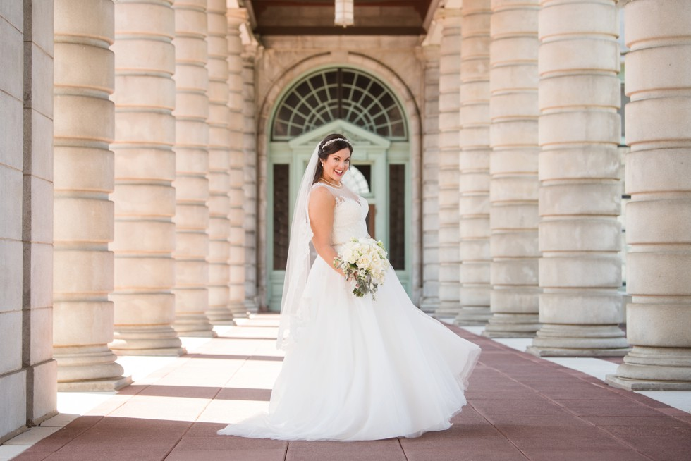 bridal portraits Maggie Sottero at US Naval Academy