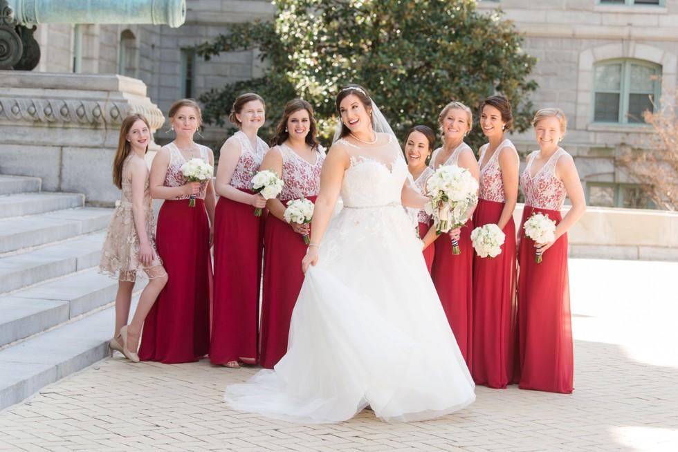 Bridal portraits at US Naval Academy