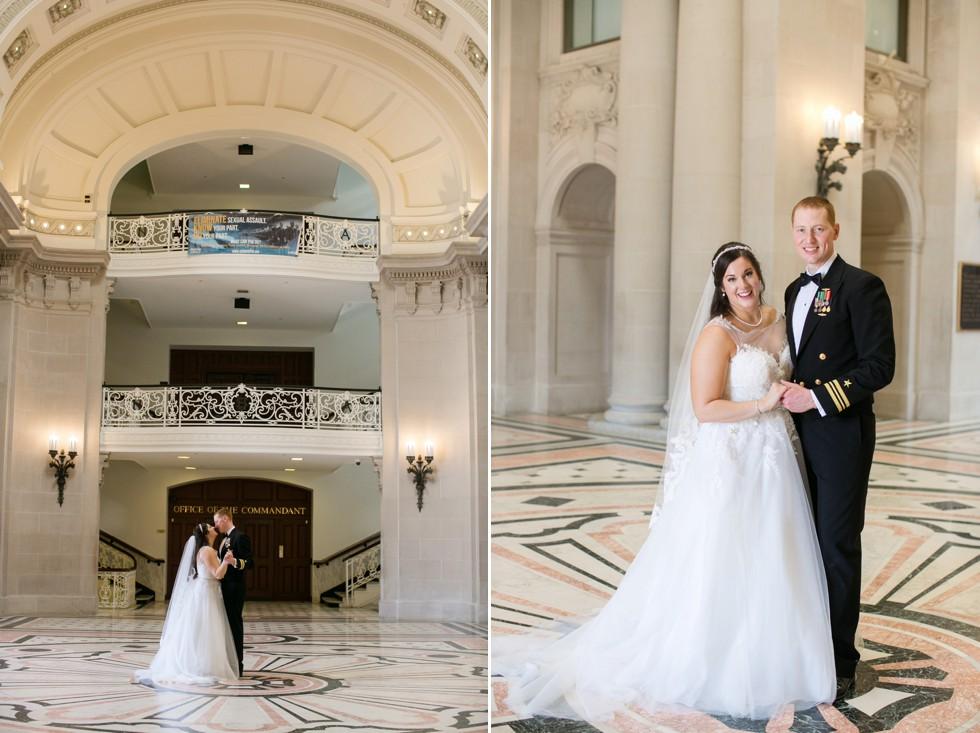 Bancroft Hall US Naval Academy military wedding