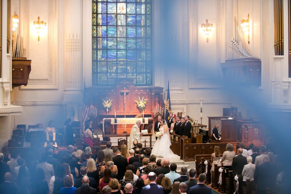 US Naval Academy Chapel wedding ceremony