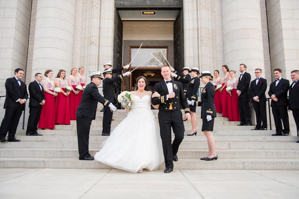 US Naval Academy Chapel sword archs