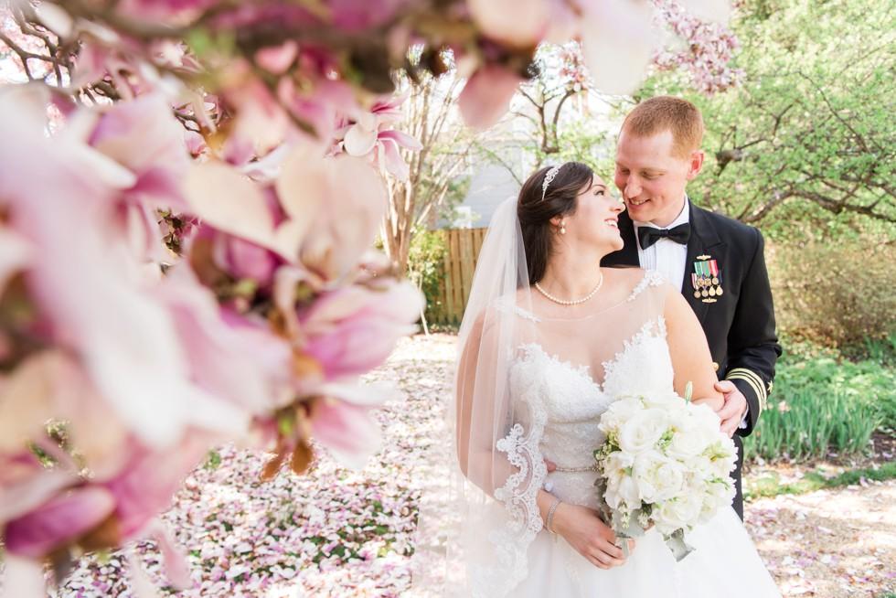 Buchanan House Superintendent's Garden magnolia wedding photos