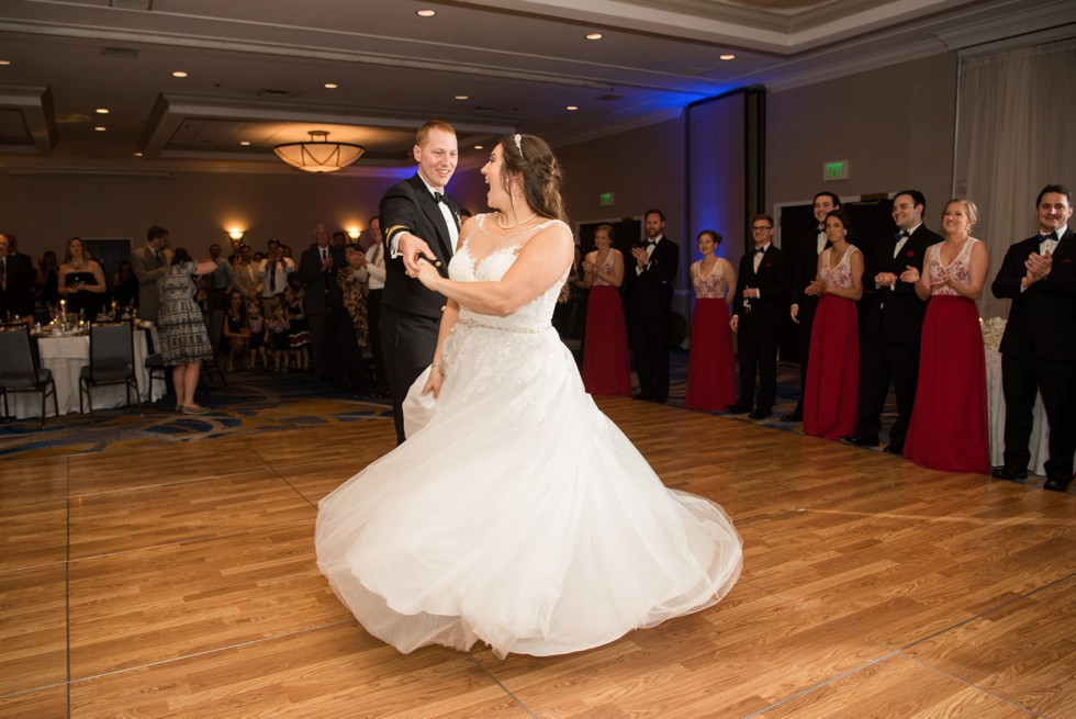 DoubleTree by Hilton military wedding