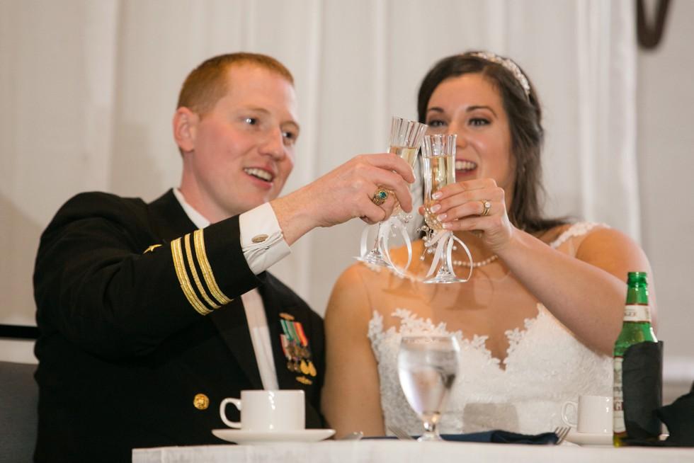 Hilton Annapolis military wedding reception