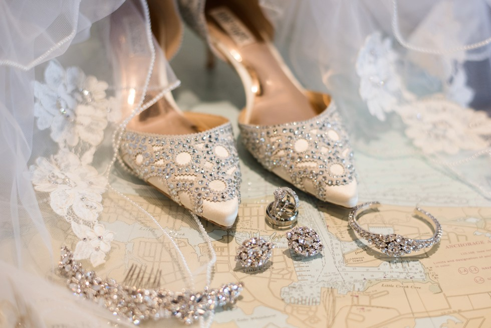 Badgely Mischka bridal shoes