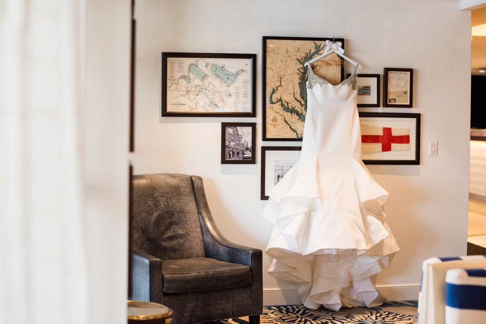 Kleinfeld's wedding dress Annapolis waterfront Hotel nautical map