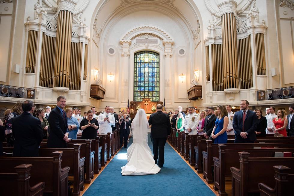 US Naval Academy Chapel wedding