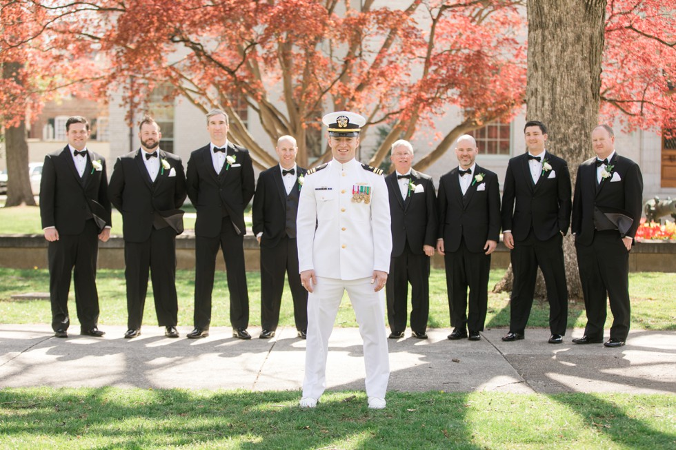 US Naval Academy Groomsmen