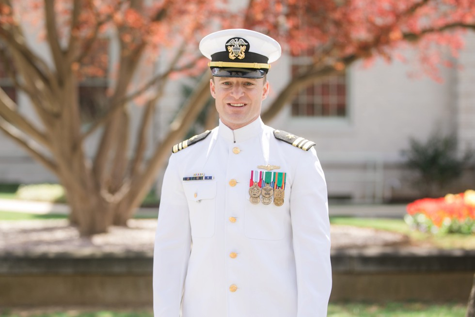 US Naval Academy Groom in whites
