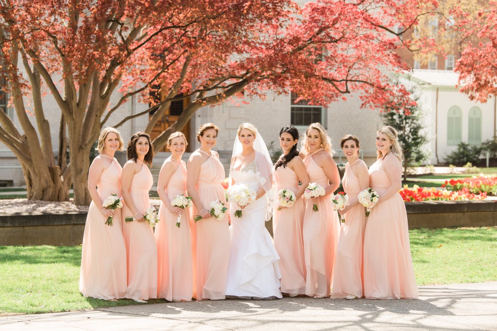 Blush bridesmaid kleinfeld wedding dress