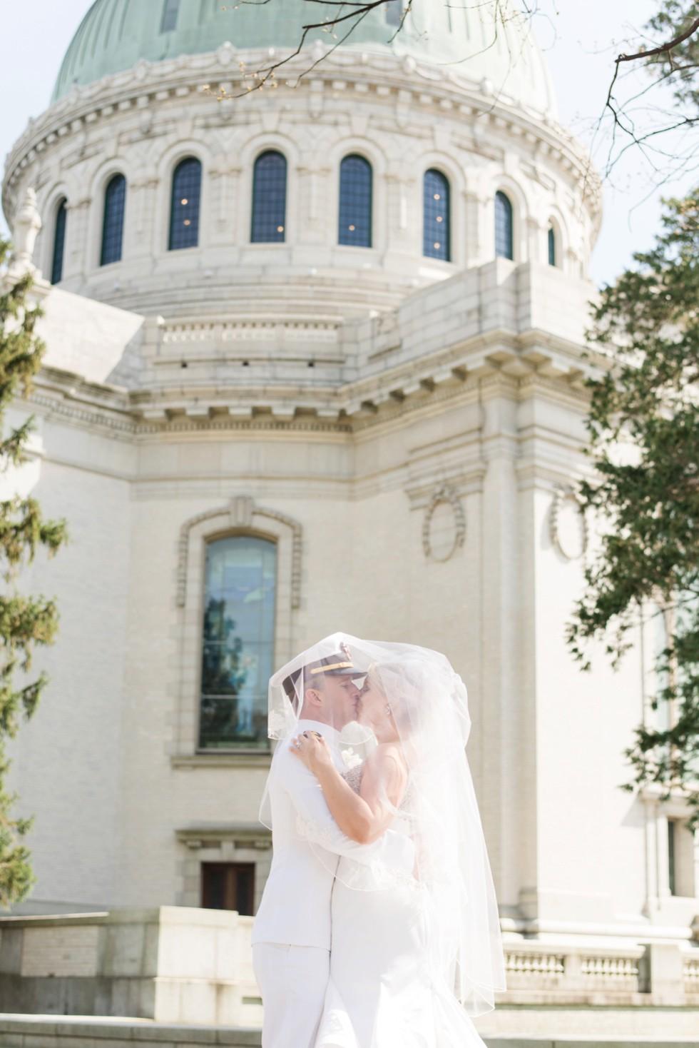 US Naval Academy Bride and Groom