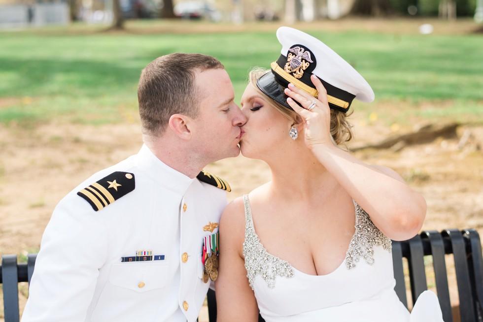 Kleinfeld Bride and groom US Naval Academy Annapolis Maryland
