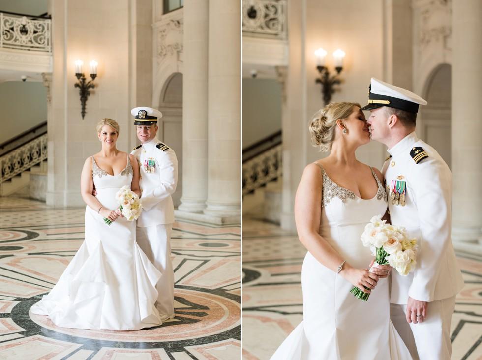 Bancroft Hall bride and groom