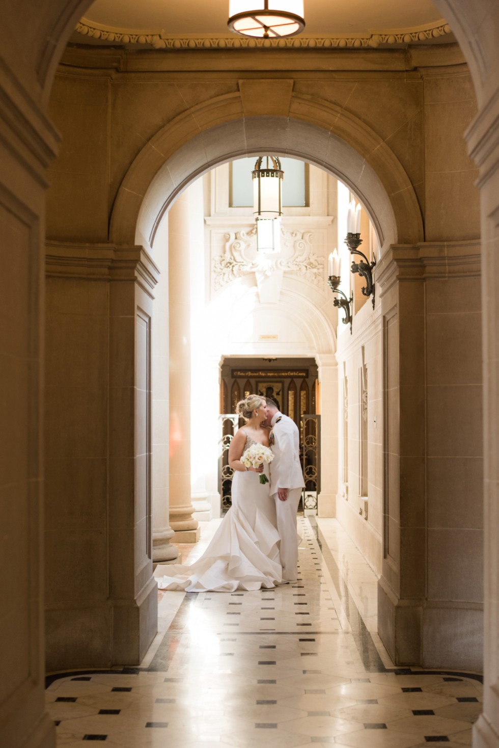 USNA Bancroft Hall romantic wedding photos